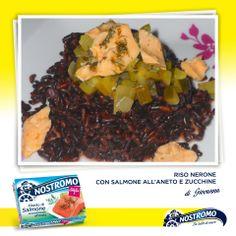 Avete una fame da lupi di mare ma non volete rischiare di addormentarvi al timone? Ecco il piatto che fa per voi, gustoso, nutriente ma leggero: riso nerone con salmone all'aneto e zucchine.  Un ringraziamento alla nostra amica Giovanna http://latavolaallegra.blogspot.it/2012/12/riso-nerone-con-salmone-allaneto-e.html  #recipe #ricetta #zucchine #salmone #riso #rice