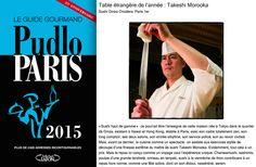 Sushi Ginza Onodera Paris élu Table étrangère de l'année dans le Guide Gourmand Pudlo Paris 2015