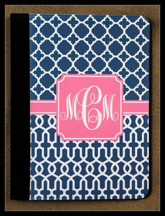 Kindle Fire HD Case Nook Color Notgebook Case by ChicMonogram