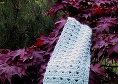 MY JUNE SCARF - SLANT STITCH   Size: 7.5 X 60 inches Gauge: unimportant  Materials: Soft worsted weight yarn 6 ounces (scarf in photo mad...