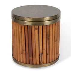 Gabriella Crespi, Bamboo and Brass Ice Bucket @artsy