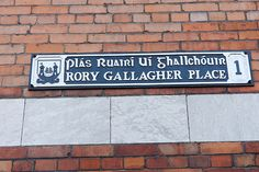 Rory Gallagher Place   #Cork #Ireland