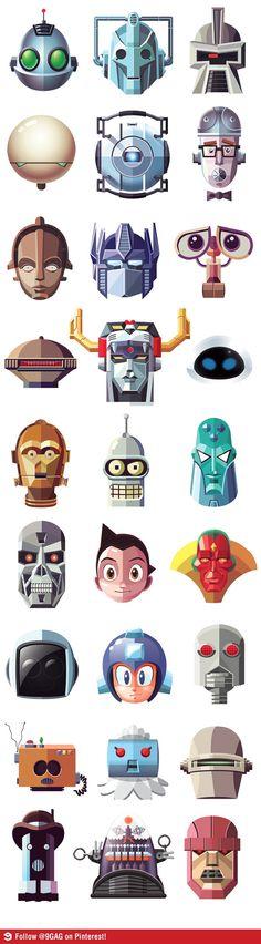 Famous robots...they've got C3PO but no R2D2!