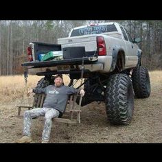 Lifted truck, just the right height!