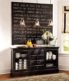 Makinga Chalkboard Wall: Artistic For Chalkboard Paint On Wall, Dining Area Wall Chalkboard Room Design, Amazing Chalkboard Paint, For Chalkboard Paint Inspiration Chalk It Up, Chalk Board, Chalk Wall, Board Art, Chalk Paint, Paint Walls, Quote Board, Quote Wall, Deco Restaurant