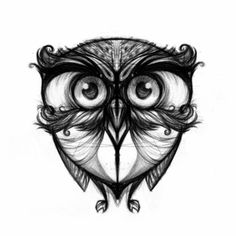 owl from Ungrafica (artist unknown) possible cover up for my back tattoo? Moustaches, Love Tattoos, Picture Tattoos, Cool Tats, Desenho Tattoo, Owl Art, Tattoo Drawings, Amazing Art, Tattoo Designs