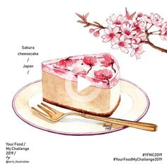 Food Design, Dessert Illustration, Arte Do Kawaii, Cute Food Art, Food Sketch, Food Painting, Cute Desserts, Cute Food Drawings, Food Illustrations