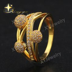 Fashion Micro Pave Many Small White CZ Ball and X shape Rings for Women Engagement Wedding Rings XYR101328