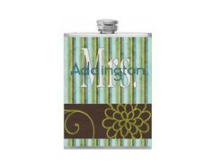 Hey, I found this really awesome Etsy listing at https://www.etsy.com/listing/184524357/personalized-mrs-flask-brown-and-teal