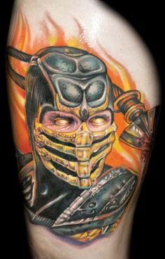 Fatality! Scorpion tattoo by Roman
