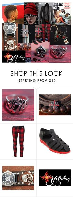 """Red & Black Menswear #1"" by yxtabay ❤ liked on Polyvore featuring FAUSTO PUGLISI, Ralph Lauren Black Label, Christopher Kane, men's fashion, menswear, jewelry, pocpolyvore and Yxtabay"