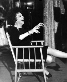 Judy Garland on the set of I COULD GO ON SINGING 1963