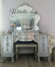 DIY Tutorial Painting Furniture - Metallic Finish With Chic and Shabby Furniture By Rebecca
