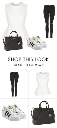 """daily basics for some"" by jadaaaaaaaaaaaaaaaaaaaw ❤ liked on Polyvore featuring Topshop, Alexander Wang, adidas Originals and Michael Kors"