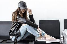 Get this look: http://lb.nu/look/8590739  More looks by Guess What: http://lb.nu/guesswhatpl  Items in this look:  Zara, Converse, Pull&Bear, Stradivarius   #casual #minimal #street #zara #jacket #airport #black #leather #look
