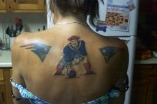 Now this fan loves her Patriots!!