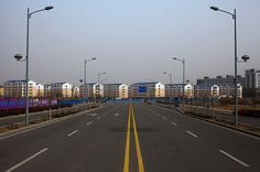 Ordos, China: A Modern Ghost Town Mostly empty apartment buildings.