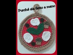 """Presina """"PIZZA"""" all'uncinetto - Crochet Pizza Pot Holder with English sub - Collab. Tati's Things - YouTube"""