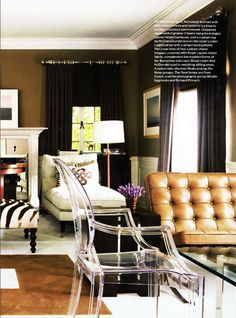 Mary McDonald, Love This Color Scheme. Love The Mix Of Styles. Especially  Lucite