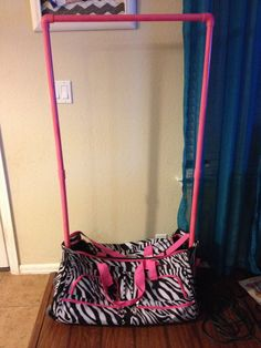 "DIY "" dream duffel"". My husband made this for my daughter for 1/3 of the price of a dream duffel or rac n roll"