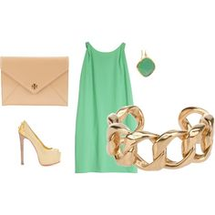 mint green and gold.want.