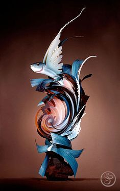 This beautiful chocolate showpiece was created by Stephane Leroux, M.O.F., of the French Pastry School.