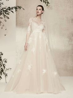 Elie Saab Wedding Dress Price Elegant Discount Elie Saab Modest Long Sleeve Wedding Dresses A Line Jewel Neck Sweep Train Tulle Applique Illusion Country Wedding Gowns Plus Size Dress Y Wedding Dress Prices, Lace Wedding Dress, Fit And Flare Wedding Dress, Wedding Dress Trends, Modest Wedding Dresses, Wedding Dresses Ellie Saab, Bling Wedding, Dress Lace, Elegant Wedding