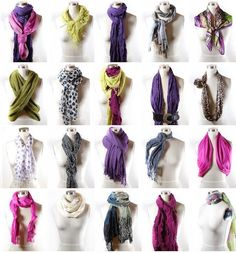 Scarf tying cheat sheet – Let me count the ways! 58 Top Street Style Ideas You Should Own – Scarf tying cheat sheet – Let me count the ways! Estilo Fashion, Look Fashion, Ideias Fashion, Fashion Beauty, Autumn Fashion, Fashion Tips, High Fashion, Fashion Styles, Fashion Check