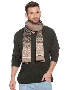 Buy 513 Men Acrylic Woolen Casual Winter Wear Geometric Print Knitted Warm Premium Mufflers Beige at Amazon.in Winter Wear, Casual Winter, Winter Outfits Men, Winter Clothes, Beige, How To Wear, Stuff To Buy, Warm, Amazon