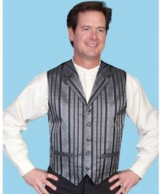 Scully Men's Black Striped Vest #elegant #wedding #retro #vintage