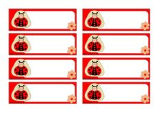 Lienka - menovky pre deti Cubby Labels, Baby Ladybug, School Frame, Spelling Bee, School Posters, Activity Centers, Cubbies, Animals Beautiful, Gift Tags