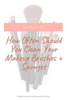I don't know about you, but I love my makeup brushes! I use my brushes every day to help conceal, brighten, flush, and add color to my look. Love My Makeup, Make Makeup, Makeup 101, How To Clean Makeup Brushes, Makeup Ideas, Makeup Tutorials, Makeup Brush Cleaner, Makeup Brush Holders, Beauty Sponge