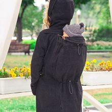 Babywearing Winter Coat with a Back Carry Option