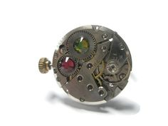 Jewelry Steampunk Ring Vintage Watch Ring by FruttiTuttiBeadCandy