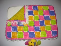 baby shower quilt cake  ALL BUTTER CREME