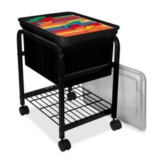 rolling file carts with handle - Google Search