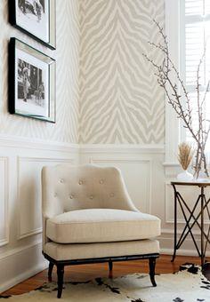 Cream and grey zebra wallpaper - Thibaut wallpaper Zebra Print Wallpaper, Of Wallpaper, Neutral Wallpaper, Bathroom Wallpaper, Latest Wallpaper, Hallway Wallpaper, Geometric Wallpaper, Sassy Wallpaper, Accent Wallpaper