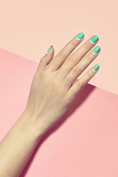 3 Manicures To Try Now Summer 2014 Nail Art Moon Nails Alternative French Manicure Beauty Inspiration Moon Manicure, Moon Nails, Manicure And Pedicure, Manicure Ideas, Nail Ideas, Green Nail Art, Green Nails, Nail Polish Trends, Nail Trends