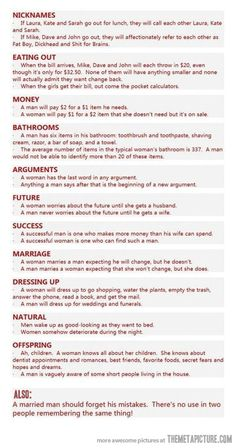 Main differences between men and women
