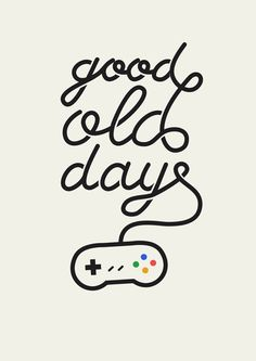 Good Old Days - Videogame Art Print