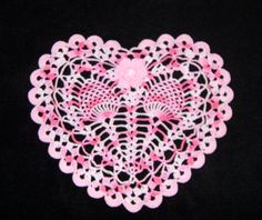 beautiful heart doily! I love this.