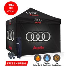 We provide high quality advertising canopy tents for trade shows to advertise your brand.make your brand and business marketing successful at trade shows with custom tents. Click here #Customtent Party Canopy, Pop Up Canopy Tent, Portable Shade, Custom Canopy, Lithia Springs, Table Throw, Tent Design, H Logos