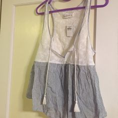 Abercrombie and Fitch tank top Nwt would go great over a bathing suit. Smoke free home. Abercrombie & Fitch Tops Tank Tops
