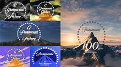 The mountain logo of Paramount Pictures as seen over the years.