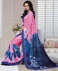 Pink & Blue Color Linen Bhagalpuri Party Wear Sarees : Nayantara Collection YF-32001