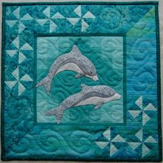 Dolphins Wall Quilt Pattern. $6.00, via Etsy.   Beautiful!!
