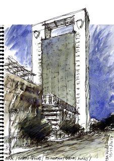 Torre Madero Office - Arq. Mario Roberto Álvarez | Croquis de Eduardo Di Clérico