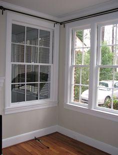 Corner Curtain Rod On Pinterest Corner Windows Corner