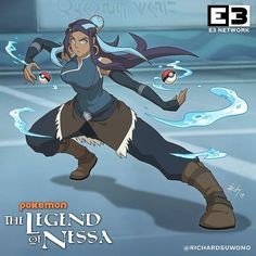Pokemon: The Legend of Nessa - Poke Ball Dreamworks Movies, Disney And Dreamworks, Pokemon Waifu, List Of Characters, Cool Pokemon, Ash Pokemon, Gym Leaders, Yandere Simulator, Black Girl Art