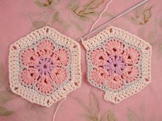 Heidi Bears: African Flower Hexagon Join-as-you-go Tutorial